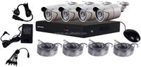 Poe 4CH HD Cloud cameras kit nvr poe 4pcs p66 bullet camera ip camera system p2p onvif
