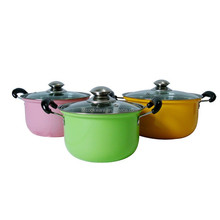 stainless steel colorful painted nonstick multi stock pot set