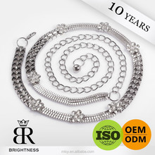 Wholesale fancy metal chain belt of body chains Brightness F1-80098