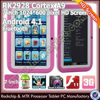 Cheapest colorful android education with full format tablet