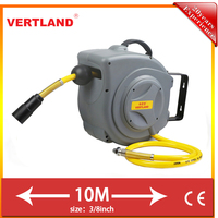 10m self-retracting mini air hose reel swivel fittings