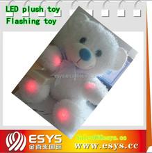 Plush bear led toys with flashing modules