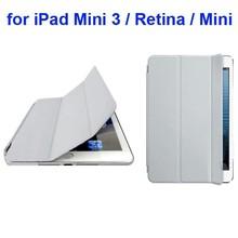 Hot Sale Ultrathin 3 Folding Leather Smart Cover for iPad Mini 3