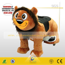 WD-B06 plush for ride /scooter wheel animal ride / plush covering coat