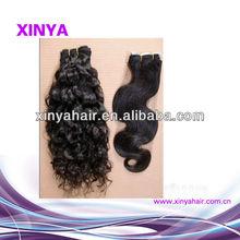 Health & no lice virgin eurasian curly wave hair extensions/free hair weave samples