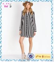 2015 latest fashion Long Style Fashion V-neck ladies blouse