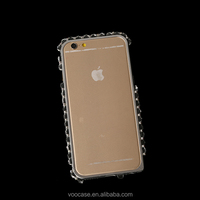 Newest Luxury Bling Diamond Metal Bumper Mobile Phone Accessories Case Skin Cover for iPhone 4/5/6/6Plus