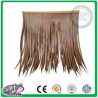 PE fireproof artificial palm synthetic thatch roofing tiles
