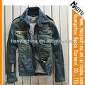 chaqueta de jean bandera americana de diseño caliente de las ventas chaquetas de jean para hombres ( hyj111)