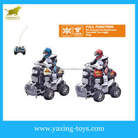 Wholesale 4 wheel motorbike ,4 channel remote control motorcycle (black wheel) with driver YX000122