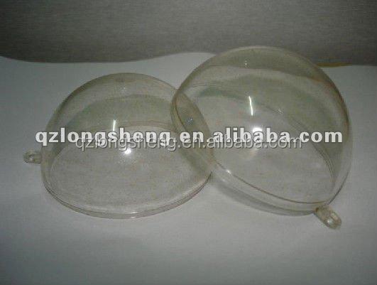 Plástico transparente bolas de natal, Bola de natal de plástico, Caixa de armazenamento dos doces