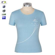 2015 Cheap brand print o-neck ladies girls t-shirt manufacturers