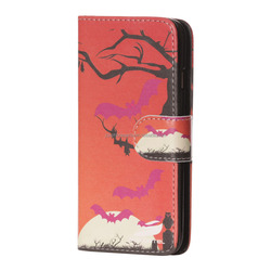 New design mobile phone separate bodies leather case with printing for samsung s6 edge