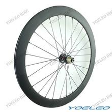 Oem ruedas de disco de carbono ligera bicicleta de carretera clincher 50 mm ruedas de disco con novatec d711 / d712 hubs