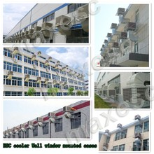 Plastic industrial commercial wall window 1.1kw/h power evaporative air conditioner