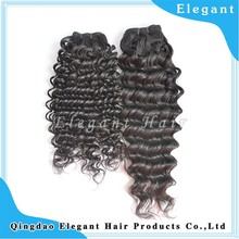 Hot selling low price deep wave human hair unprocessed Vietnamese remy hair weft