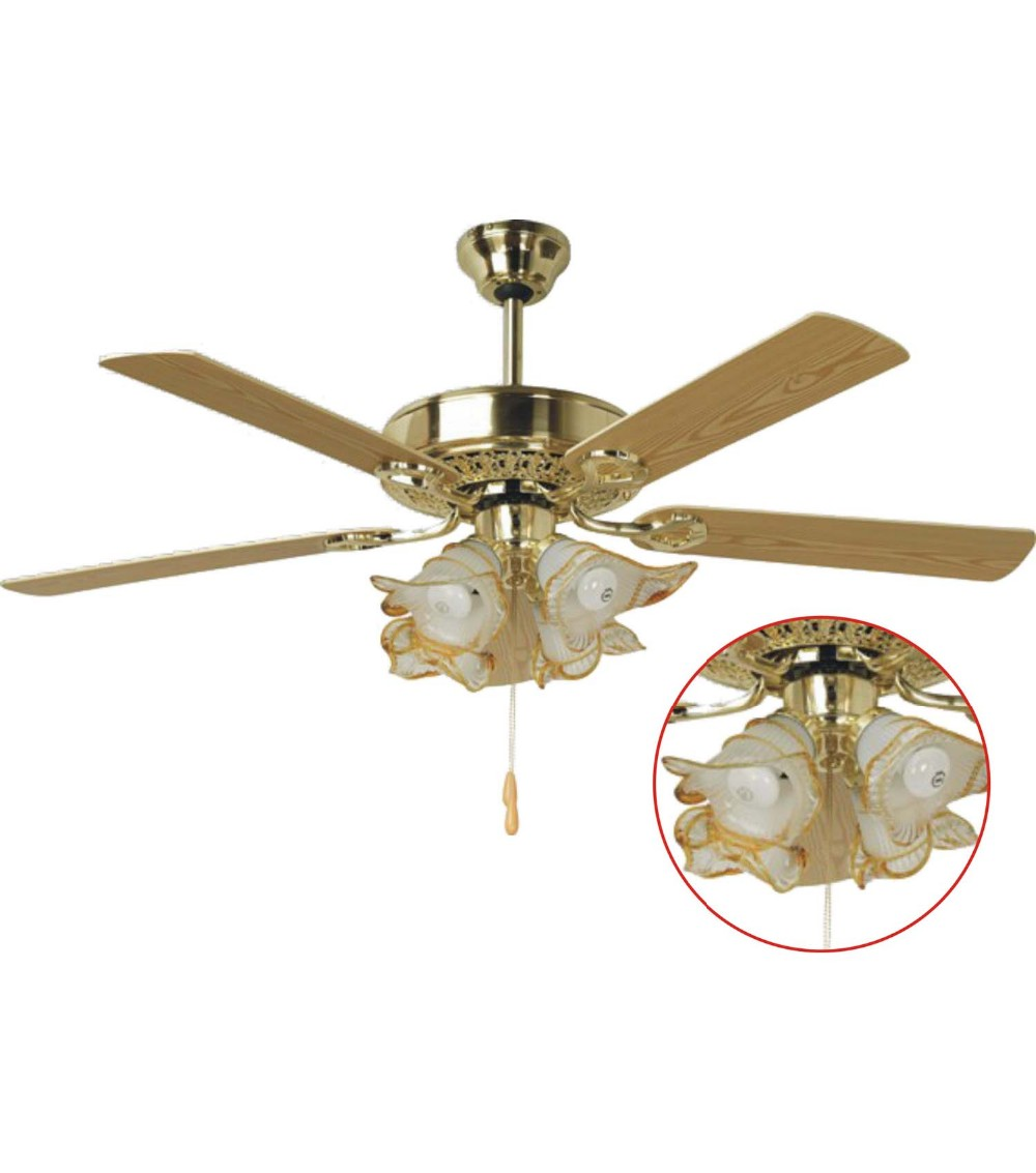 Ceiling Fan Light Bulb Types : Decorative ceiling fan with remote control view