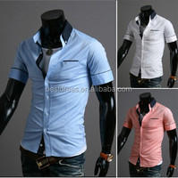 walson instyles wholesale hot Fashion leisure cotton collar men's T-shirt