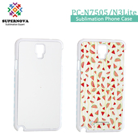 Wholesale Alibaba Blank Sublimation Phone Case, Custom Plastic Phone Cover for Samsung N7505/N3 Lite