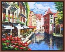 GX6853 city landscape digital oil paing wall art