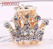 Wholesale new design crown shape cluster crystal alloy hair claws