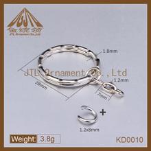 Fashion metal stainless steel split key ring chain