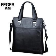 Feger handbag business usage for men black portable leather bag