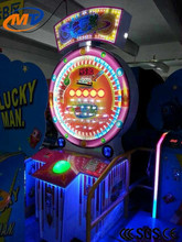 coin operated happy ball machine with LED lights, cion pusher game machine, amusement rides for kids