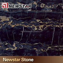 Top finished black marble with gold line price