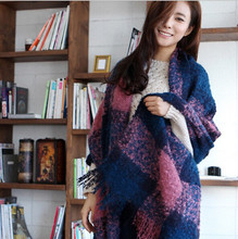 f177 wlldh The new autumn and winter scarves Korea sweet little fresh loop yarn knitting wool plaid big money big wholesale