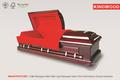 Magistrado rojo Solid Mahogany ataúdes funeral ataúd roble rojo ataúd cama