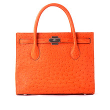 Ostrich Skin Tote Bag for Ladies Geniune Leather Luxury Handbags Handmade Women Handbag