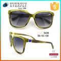 Último nuevo OEM moda acetato 2015 orden gafas de sol