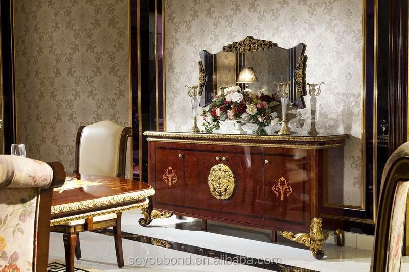 0063 bois massif antique salle manger ensemble style italien salle manger meubles lots de - Meuble italien salle a manger ...
