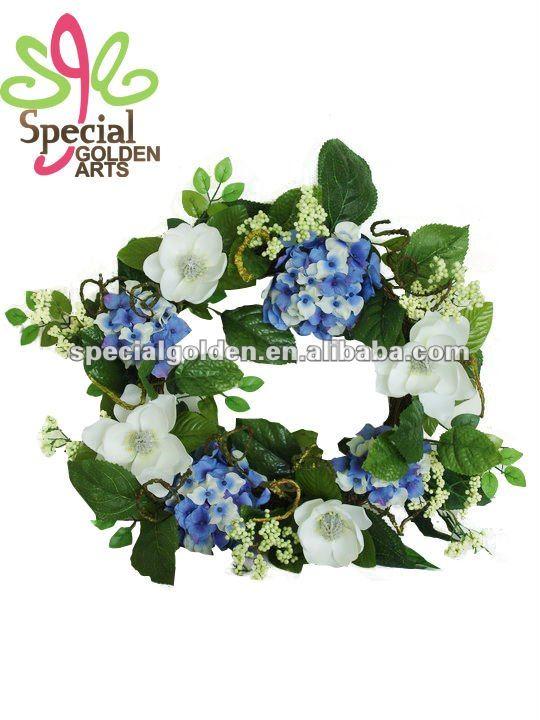 nuevo diseño artificial flor de magnolia de corona