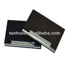 PU leather stainless steel business card case