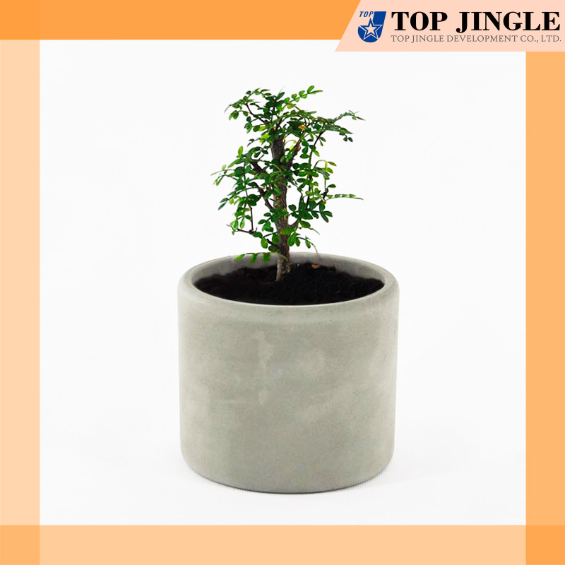 Decorative Garden Plant Smooth Ivory Concrete Pots - Buy Concrete Pots ...