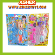 3.5 Inch Plastic Lovely Baby Doll With 5 Piece Dress Up Set