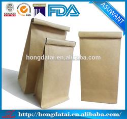 factory Kraft Paper block bottom coffee bag