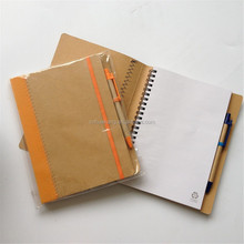 A5 ecological notebook,brown kraft paper cover