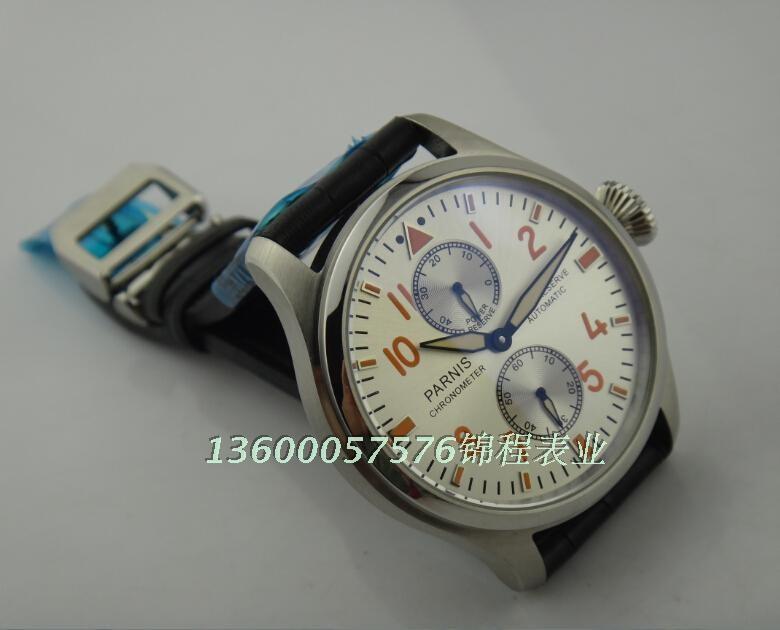 47 мм PARNIS ST2530 чайка движение big pilot автоматическая мужской стол энергии в соответствии с Хорошее качество смотреть Случайный часы