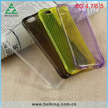 Newest TPU case for iphone 6, for iphone 6 clear transparent soft TPU case with Shockproof Function