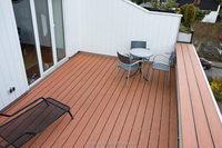White black antiseptic wood plastic composite decking, waterproof laminate flooring, outdoor deck floor covering, wpc decking