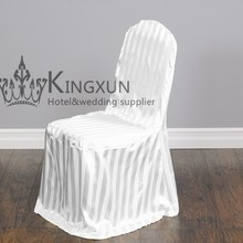 White Color Poly Jacquard Damask Chair Cover