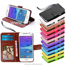 for samsung galaxy j1 case with ID card holder book stand wallet leather cover, china supplier cover case for samsung galaxy j1