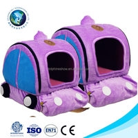 2015 Purple cute plush dog bed cheap soft pet bed for dog foldable oop pet dog cat teepee tent bed