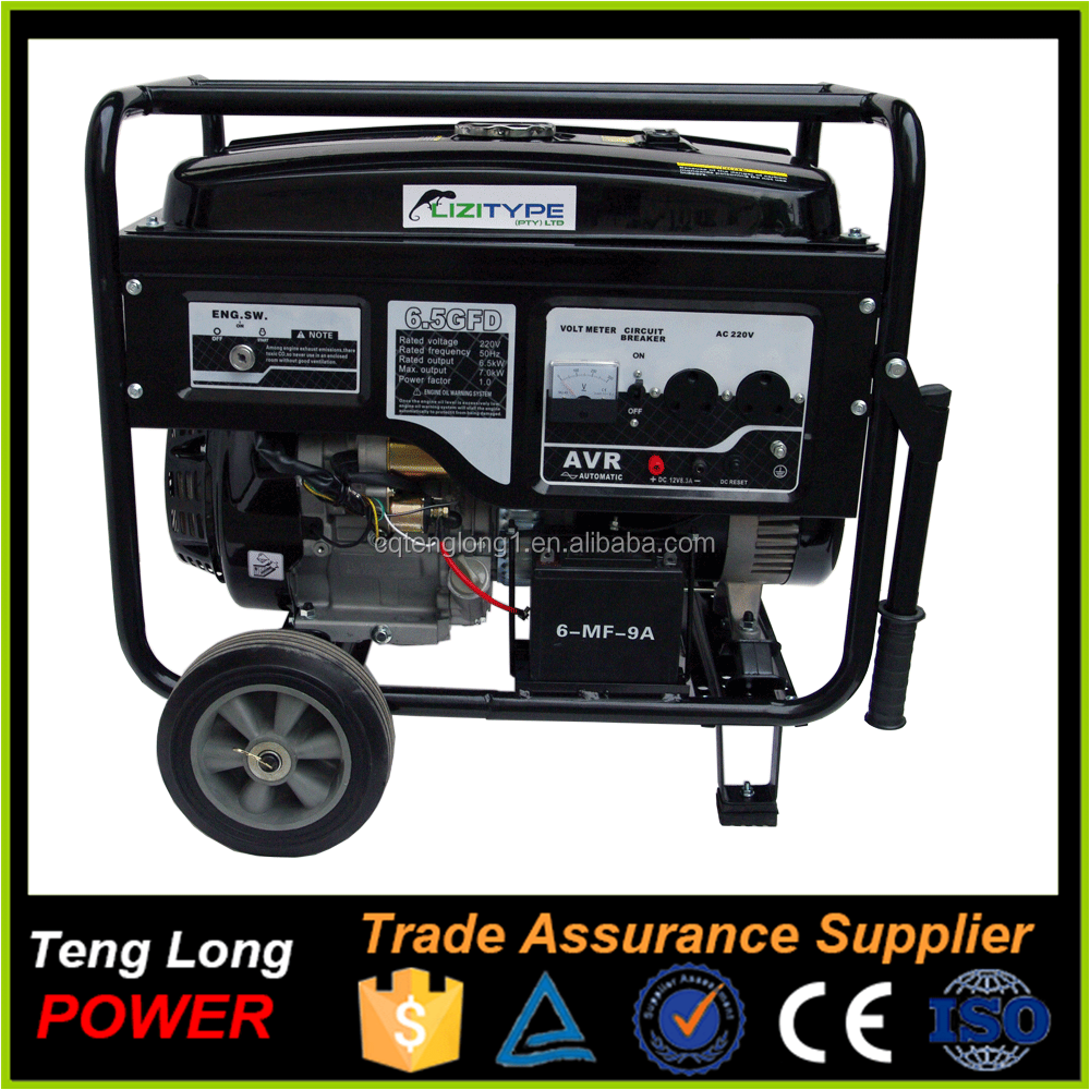 Small Electric Generator : Top quality portable small electric start gasoline