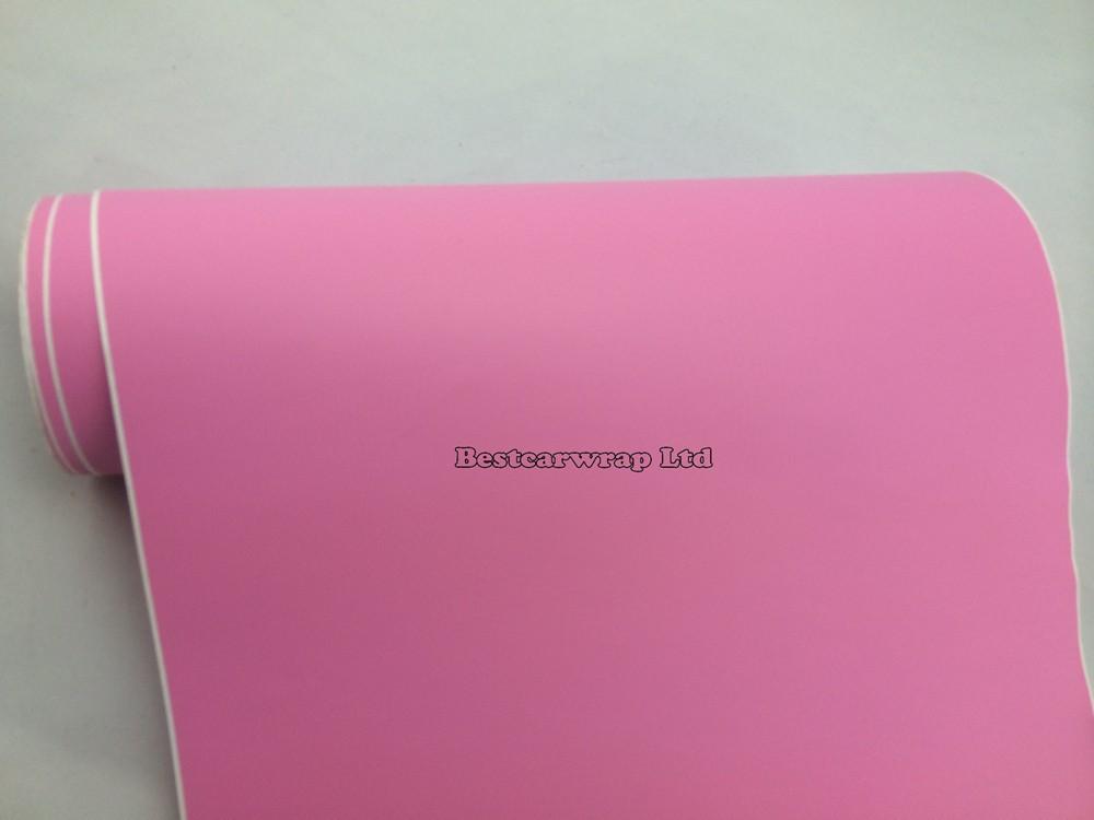pink matt vinyl car wrapping film matte wrap sheets (2)