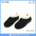 Suela de goma barato de imitación caliente empeine de gamuza invierno zapatos casuales