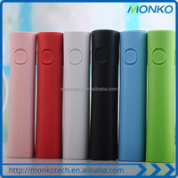 Promotional Gift Mini Portable LED Light Cell Phone Charger 2600mah Power Bank Small Waists Mobile Charger